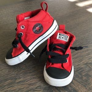 Red & Black All Star Converse High Top